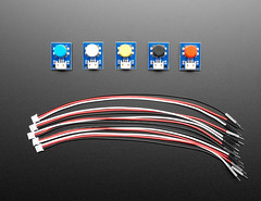 STEMMA Wired Tactile Push-Button Pack - 5 Color Pack (adafruit) Tags: 4431 stemma pushbutton packs wiredtactilepushbutton accessories addons electronics diy diyprojects diyelectronics