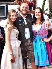 In the Garden Restaurant in Gustavsburg in Germany during a Festival - 2019 - With Dirndl and leatherpants (DieterLo1) Tags: bayerischelederhosen dirndl gustavsburg zumheurigen biergarten restaurant