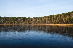 Autumn gives way to winter. The water begins to freeze. (ivan_volchek) Tags: beauty forest reflection beautiful natural pond scenic green tree river ice blue spring winter view day lake landscape nature outdoor water coast houses icefloes melt mountain panorama season shore sky springtime tourism touristvillage travel white wooden baretree park
