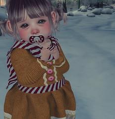 Ginger Bread Christmas (oakandnova) Tags: winter kid kids babies baby bebe toddler toddleedoo sl christmas holiday snow cute sweet cutebytes yumyum