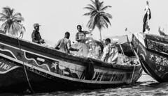 Fishermen (chris watkins wales) Tags: senegal photography fishermen africa west nets boat