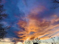 December 11, 2019 - Beautiful sunset clouds. (Mary Lindow)