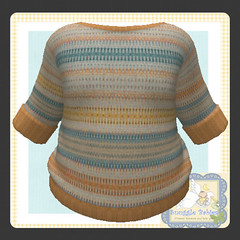 sweater knitted yellows stripe (Snuggle Animesh Clothes) Tags: second life zooby animesh baby snuggle clothes dress
