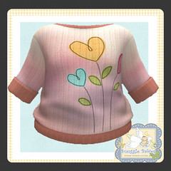 sweater knitted  peach blended (Snuggle Animesh Clothes) Tags: second life zooby animesh baby snuggle clothes dress