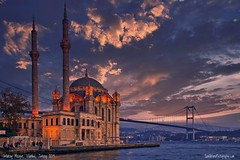 Ortaköy Mosque, Istanbul, Turkey (Sam Antonio Photography) Tags: ortaköymosque büyükmecidiyecamii grandimperialmosqueofsultanabdülmecid waterside ortaköypiersquare bosphorus istanbul turkey architecture mosque city blue night europe building minaret turkish cityscape sky evening ottoman travel skyline view landmark old beautiful historic dusk twilight islam asia lights muslim dome culture tourism religion exterior islamic colorful illumination waterfront quay fatih water port historical destinations touristic architectural landscape constantinople goldenhorn islamicarchitecture islamicdesign illuminated