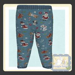 display legging Christmas santa snowmen blue (Snuggle Animesh Clothes) Tags: second life zooby animesh baby snuggle clothes dress