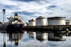 Still Water (PAJ880) Tags: greek tanker tank farm petroleum east boston ma harbor industry chelsea river creek