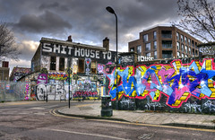 The Old And The New (nigdawphotography) Tags: pub graffiti building eastlondon hackney london derelict lordnapier