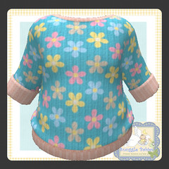 sweater knitted floral (Snuggle Animesh Clothes) Tags: second life zooby animesh baby snuggle clothes dress