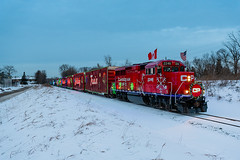 Canadian Pacific Holiday Train (shawn_christie1970) Tags: crystal minnesota unitedstatesofamerica rebuilt emd gp20ceco christmas holiday train cpr cp2246 railroad passenger holidays