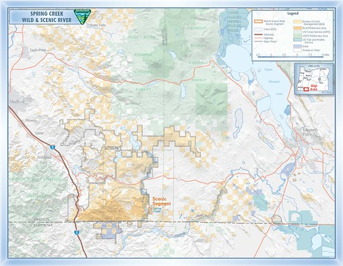 Spring Creek Wild and Scenic River Map