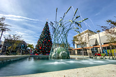 POTD 345-2019 (Webtraverser) Tags: 365picturesin2019 christmastree everydayphotographer iphone11pro iphoneography longexposure motionblur pad2019345 pictureoftheday potd2019 project365 publcart shoppingcenterdecor shotoniphone11pro waterfountain waterfountainsculpture oxnard california unitedstatesofamerica