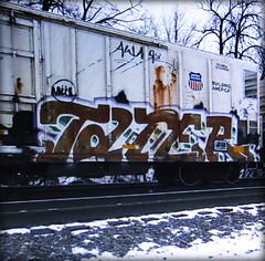 tater MUL (timetomakethepasta) Tags: tater mul freight train graffiti art armn reefer union pacific aware