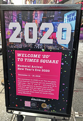 Preparation Began In New York City For New Years Eve 2019 When The Two Of The Giant Numbers That Will Make Up The Year 2020 Sign Atop 1 Times Square On New Year's Eve Were Delivered To Times Square On Wednesday December 11, 2019 - Photo Taken 121119 (ses7) Tags: nyc 2020 new years eve preparation