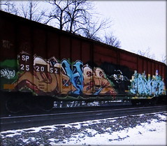 dehse (timetomakethepasta) Tags: dehse sluts blare mah freight train graffiti art union pacific boxcar sp southern