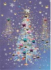 Sparkly Christmas Tree (booboo_babies) Tags: christmas christmastree stars sparkles swap instagram blue night holiday