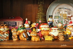 the Christmas Garfields (Judecat (Tis the Season!)) Tags: cats decorations christmasdecorations garfield christmasgarfield holiday