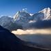 Mountain views (Tristan Rayner) Tags: asiatrip nepal prints thamserku kangtega himalaya mountains
