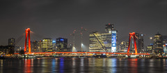 DSC_4000 (Matthijs Peeperkorn) Tags: rotterdam city skyline night lonelyplanet citylights bridges bridge river cityscape maas willemsbrug noordereiland willemswerf