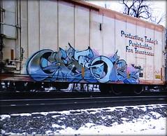 the ghor (timetomakethepasta) Tags: ghor freight train graffiti art cryo cryotrans cryx reefer