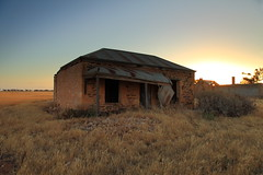 The End Approaches (Darren Schiller) Tags: australia abandoned architecture building cottage country derelict disused decaying deserted dusk empty evening facade farmhouse farming galvanisediron history heritage house home landscape old rural rustic rusty ruin southaustralia sunset tin