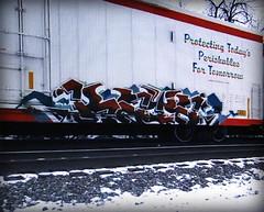 (timetomakethepasta) Tags: kaya osek kfw freight train graffiti art cryo cryotrans cryx reefer