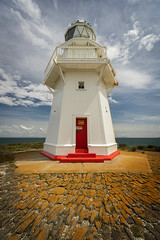 Waipapa Point Lighthouse (Lyndon (NZ)) Tags: 2019 lighthouse newzealand nz architecture tower history southisland red door leadinglines catlins