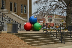 Sitting on the Courthouse Square (BKHagar *Kim*) Tags: bkhagar christmas holiday decorations christmasballs athens alabama al courthouse