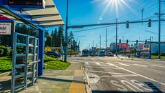 HDR of Community Transit Swift Stop (AvgeekJoe) Tags: brtlite busrapidtransit communitytransit everett hdr snohomishcounty swift swiftbrt swiftbusrapidtransit usa washington washingtonstate bus masstransit masstransportation publictransit publictransportation transit