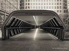 2019 10 12 - Into the future 1b (LesHutchinson) Tags: canarywharf architecture monochrome london lights