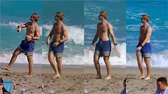 Nice Legs on Beach (LarryJay99 ) Tags: legs cuteguy shirtless nipples barfuss barefoot feet toes headtotoe man men guy guys dude male studly manly dudes handsome people virile