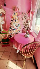 Pretty In Pink.. (lillypotpie) Tags: pink christmas christmastree christmasornaments table elf chairs