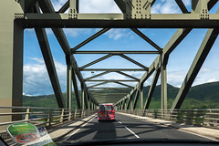 Scottish Campervan (Jocey K) Tags: tripukeroupe2019 june uk scotland southernscotland bridge locheil car shadows sky clouds road