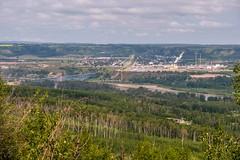 Taylor, Peace River Bridge (MIKOFOX ⌘) Tags: canada showyourexif town bridge xt2 learnfromexif july landscape provia industrial fujifilmxt2 pipeline mikofox summer valley xf18135mmf3556rlmoiswr
