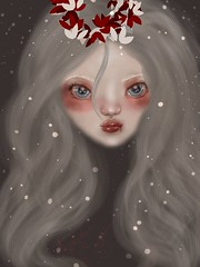 the coldfin (Bulletproof Marshmallow) Tags: digital art winter cute