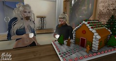 Christmas - Day 11 - The Gingerbread House (Melody Demonia) Tags: blond herm female shemale secondlife safe christmas fun