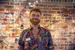 Glitter-Beard (Brian M Hale) Tags: glitter beard portrait hunter tower hill botanic botanical garden staff employee boylston ma mass massachusetts christmas holiday lights night event brian hale brianhalephoto