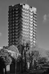 Pauline House / E1 (Images George Rex) Tags: architecture london towerhamlets uk highrise flats apartments councilhousing socialhousing modernism brutalism georgefinch lcc england unitedkingdom britain imagesgeorgerex photobygeorgerex igr monochrome bw oldmontaguestreet 3869e9c8e1034994797033ae0b558d44