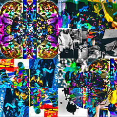 We Are The World (soniaadammurray - On & Off) Tags: digitalart art myart visualart abstractart experimentalart contemporaryart music song artists shadows reflections africa help act together community love friendship savethefamily workingtowardsabetterworld embraceourdifferences artchallenge spotlightyourbestgroup children speak