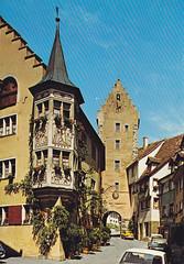 Postkarte / Deutschland (micky the pixel) Tags: postkarte postcard ephemera deutschland germany meersburg architektur gebäude building erker gasthof bären oberestor badenwürttemberg