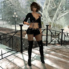 Raduna (Algezares (III)) Tags: kaithleens winter equal10 santainc events blouse shorts jeggins secondlife sexy sensual maitreya mesh genus