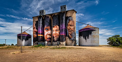 Painted #3 (RWYoung Images) Tags: rwyoung olympus em1mk11 sheephills silo grain rural mural country