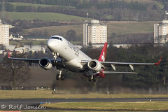 HB-JVU Embraer 190 Helvetic Airways Glasgow airport EGPF 11.12-19 (rjonsen) Tags: plane airplane aircraft aviation airliner takeoff departure liftoff rotation