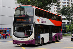 SBS3155T, Stamford Road, Singapore, October 12th 2018 (Southsea_Matt) Tags: sbs3155t route111 sbstransit stamfordroad singapore october 2018 autumn canon 80d sigma 1850mm bus omnibus transport vehicle wright eclipse gemini volvo b9tl triaxle