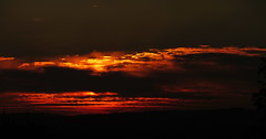 Sunset at Binselberg (Artist Shaman) Tags: sunset color wide panorama binselberg odenwald home red sky