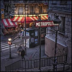 Station Lamarck-Caulaincourt * Paris (sistereden2) Tags: montmartre café 25mmf12 zuiko em5markiii olympus