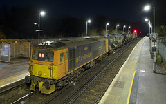 73213 & 73107 3W05 Ore 12/12/2019 (Waddo's World of Railways) Tags: 73 731 ed jb ore sussex eastsussex orestation station night train rail railway loco locomotive rhtt class73 railheadtreatmenttrain 3w05 gb gbrf gbrailfreight nightphotography nightrailwayphotography dark hastings hastingstoashford hastingstoashfordline 73107 107 tracy 213 73213 73107tracy