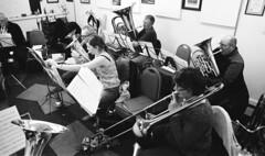29a Knottingley Silver Band C (I ♥ Minox) Tags: film 2019 knottingley knottingleysilverband brassband windband music musician musicians rehearsal yorkshire westyorkshire olympus om2 om2n olympusom2 olympusom2n kodak kodaktmax400 tmax tmax1600 1600asa