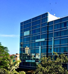Building reflections. (vharishankar) Tags: architecture reflections glass sky building