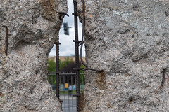 Hole in Berlin Wall (DebbieFirkins) Tags: berlin wall stone stonework hole removed down ww2 war separation reinforced strong captive isolated revolution